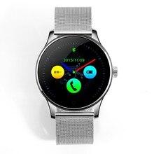 LiuKer K88 Bluetooth Smart Watch Klassische Gesundheit Metall Smartwatch Herzfrequenzmesser für Android ISO Phone Remote Kamera Uhr