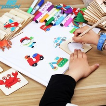 RCtown Painting Stencil Templates with Water Color Pen Set More Than 55 Stencil Creative Drawing Tools Gift for Kids zk30