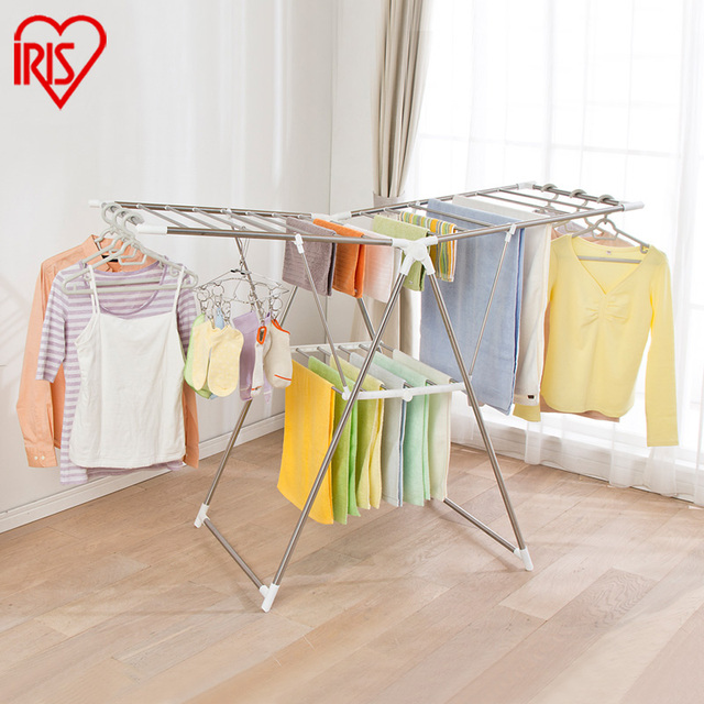 dry folding storables bamboo rack wooden drying