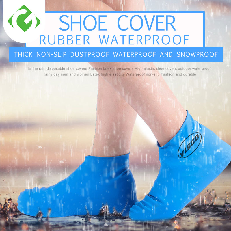 Antislip Reusable Latex Shoe Covers Waterproof Rain Boot Overshoes Unisex Shoes