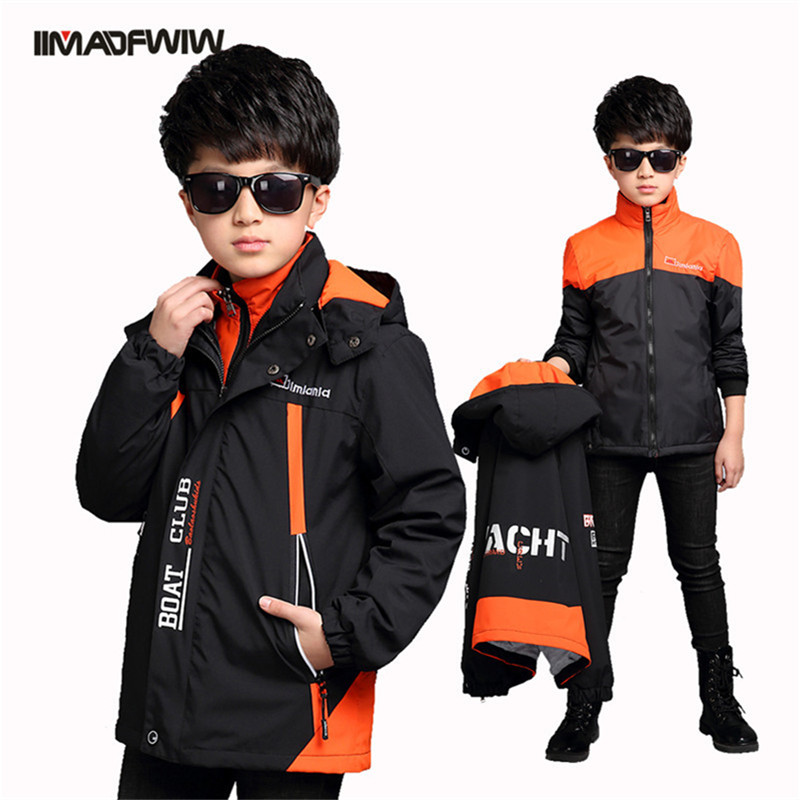 2017 children's winter coat jacket boy in the big outdoor children's windproof removable triple children's Jackets 6 16t