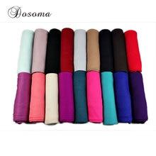 Muslim Jersey Scarf Plain Cotton Head Wrap Turban Solid Maxi Abaya  Kaftan Instant Hijab Arab Islamic Long Loop Shawls Scarves
