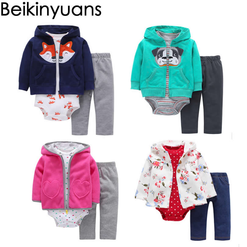 Baby Clothing Fox Bear Rompers Newborns Boy Girl Jumpsuit Baby Romper Hooded Warm Cotton Infant Cardigan Polar Fleece Jacket newborn baby rompers baby clothing 100% cotton infant jumpsuit ropa bebe long sleeve girl boys rompers costumes baby romper