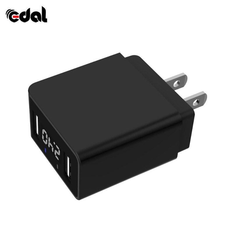 Светодиодный Дисплей 2 USB телефон Зарядное устройство EU/us Подключите Max 2.2A Smart Б ...