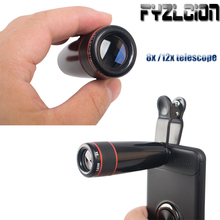 8x /12x Telephoto Zoom Telescope New Warhead Lens for Your Mobile Phone Optical Lens with Universal Clip for All Mobile Phones стоимость
