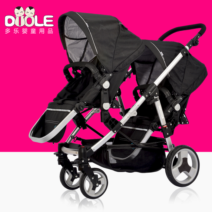 Twin baby car before and after the child double baby stroller before and after the twins baby stroller original smal king qj50qt 5 pulley city after baby qj50qt 2 rounds after rejection