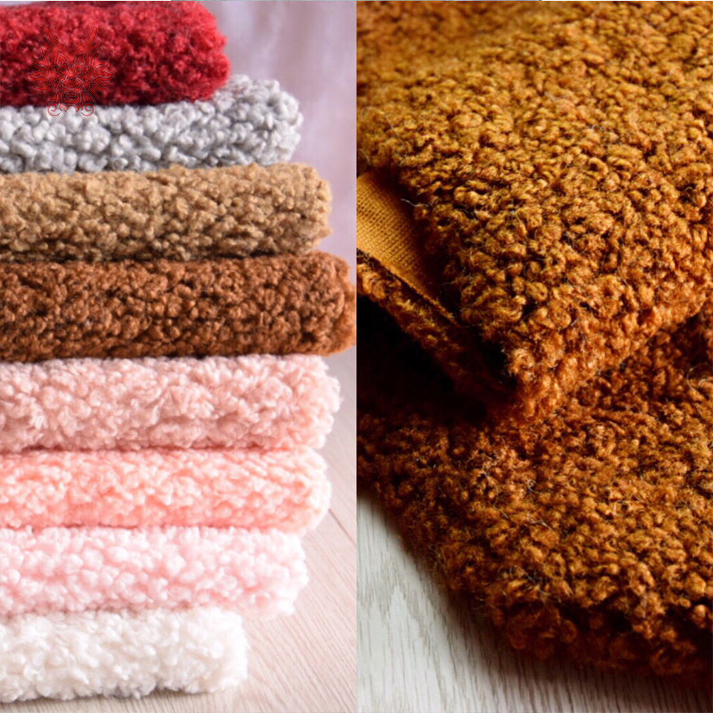 Multi Color Solid Weighted Fluffy Faux Curled Wool Fur Fabric Tissue Photographic Newborn Cloth DIY Accessories 160*50cm SP5425