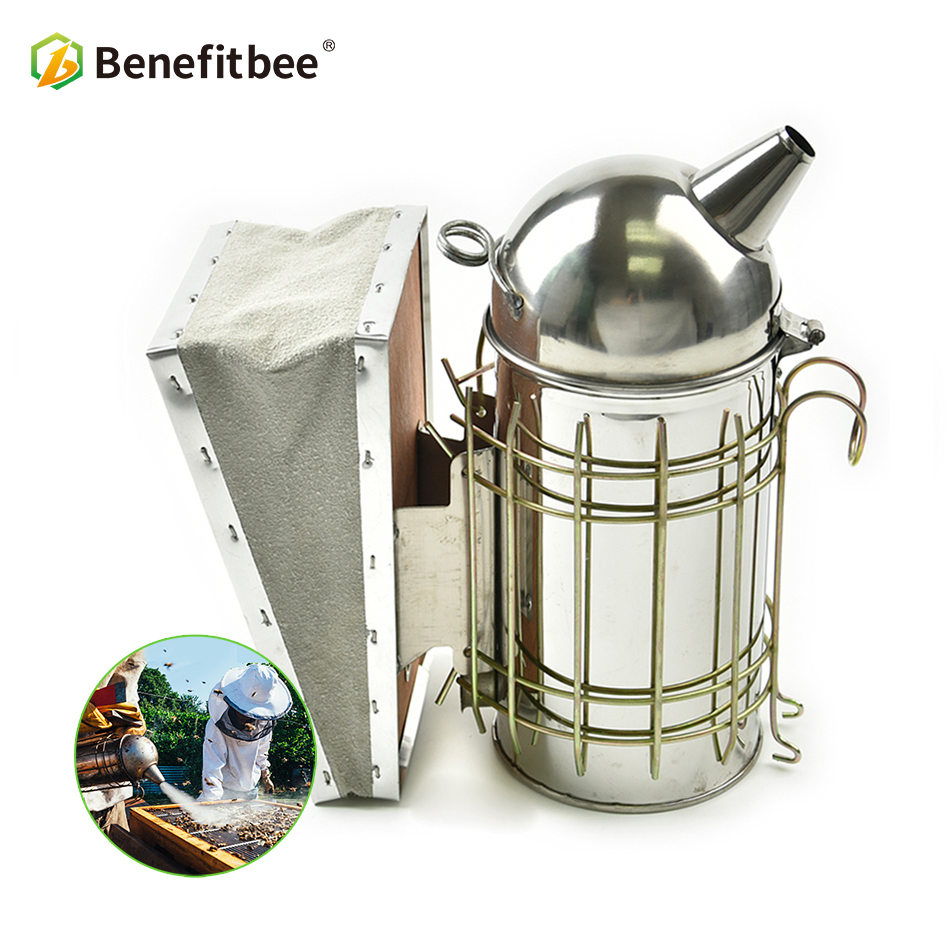 Benefitbee Beekeeping Smoker Bee Smoker Stainless Steel Beekeeping Tool Supplies For Beehive Smoker Apiculture Equipment