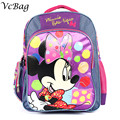 2016 New 16 Inch Cartoon Backpack Minnie Print Schoolbag Kindergarten/Primary School Kids Bags Infantil Mochila for Baby Girls