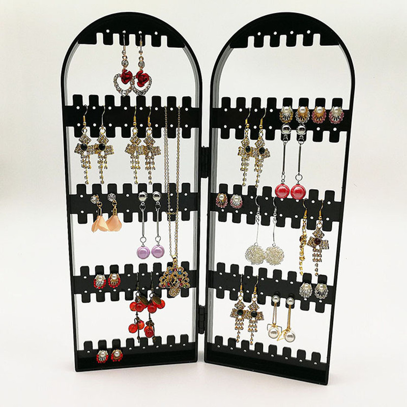 2017 New Arrival Jewelry Display Jewelry Organizer Earring Organizer Acrylic Jewelry Holder Makeup Jewelry Organizer Black Color
