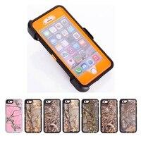 Bos Camo Zware Case voor iPhone 6 6 S Shockproof Bescherming Full-Body Cover Met ingebouwde Screen Protector Riemclip