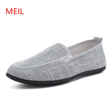 2018 Summer Mens Shoes for Men Linen Espadrilles Casual Slip on Breathable Loafers Flats Shoe Zapatos Hombre