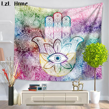 LzL Home Lucky Fatima Hand Decoration Tapestry Home Decor Wall Hanging Tapestries Sandy Beach Dorm Cover Door Curtain Wall Art woody door print wall decoration tapestry