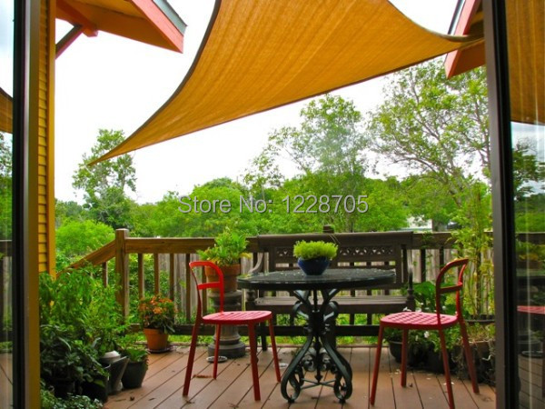 Lovely Patio Sails 3 4m Rectangle Waterproof Sun Shade Sails Roof Top Canvas  Flexible Garden Shade For