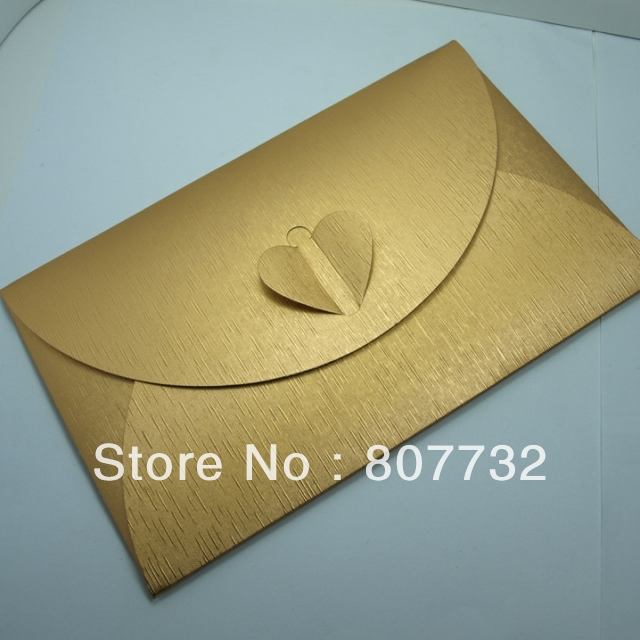 1219cm perfect quality envelope gold 250g pearl paper donot need sticker