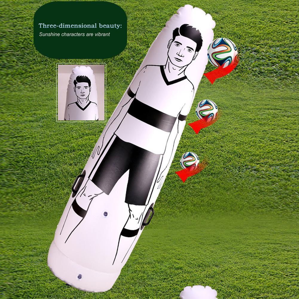 175 см ПВХ надувной футбольный мяч обучение вратарь стекло воздушный футбол манекен детей взрослых пенальти команды