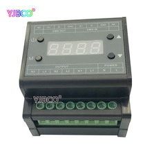 DMX302 High voltage DMX triac led dimmer brightness controller AC90V-240V 50Hz/60Hz Output 3channels 1A/CH for led panel light