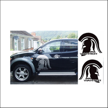 free shipping 2pc WARRIOR graphic Vinyl sticker for side and rear tailgate decal mitsubishi l200 triton pickup