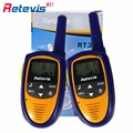 2X Retevis RT31 Children Mini Walkie Talkie 8CH 0.5W UHF PMR446 Hf Radio Monitor LCD Display Ham Portable Radio Transceiver RU