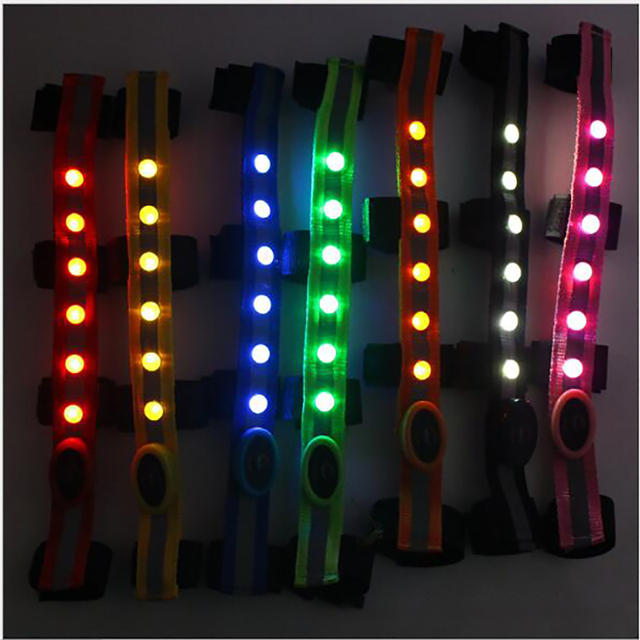 LED 34*2.5cm Horse Pull Rope Leading Decoration Night Visible Luminous Belt Outdoor Safety Warning Belts Horse Riding Accessory