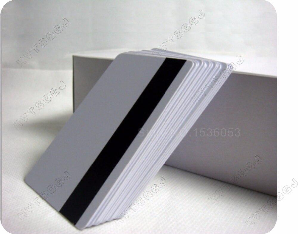 bilder für 100x blank CR80 ID ISO PVC Kreditkarte LoCo 1-3 Magnetstreifen Pvc-karte kostenloser versand