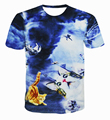 3D Galaxy Cat T Shirt Lighting/pizza/Surprised Cats T-shirt Men Women Summer Tops Tees Casual Funny Fashion Short Sleeve Costume