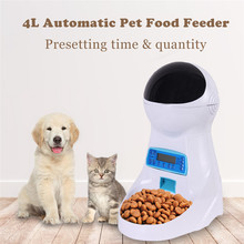 4L Automatic Pet Feeder With Voice Recording Food Bowl For Medium Small Dog Cat LCD Screen Dispenser 4 Times One Day
