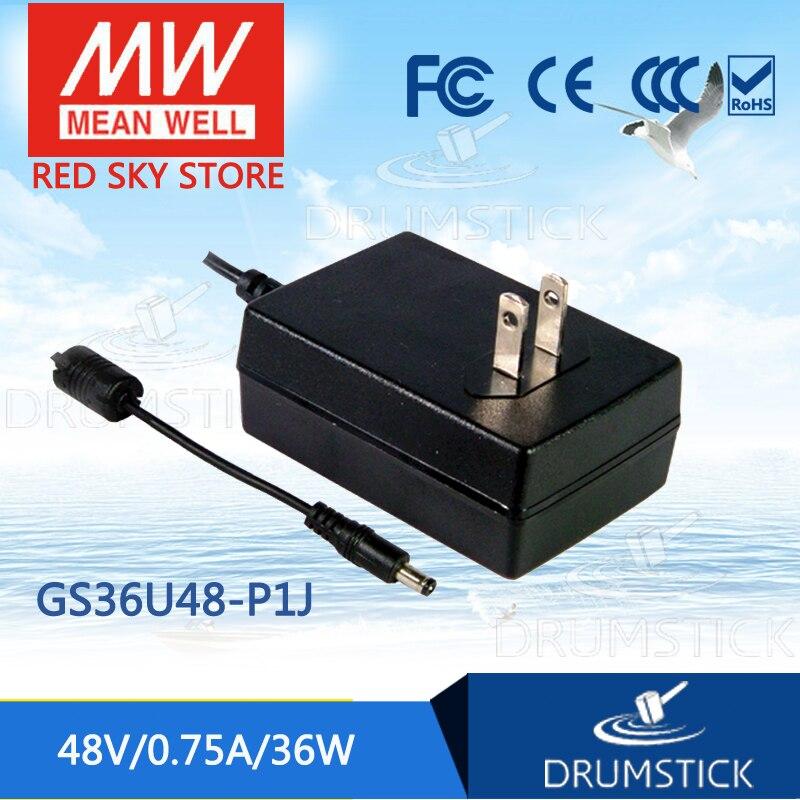 цена на Advantages MEAN WELL GS36U48-P1J 48V 0.75A meanwell GS36U48 48V 36W AC-DC Industrial Adaptor