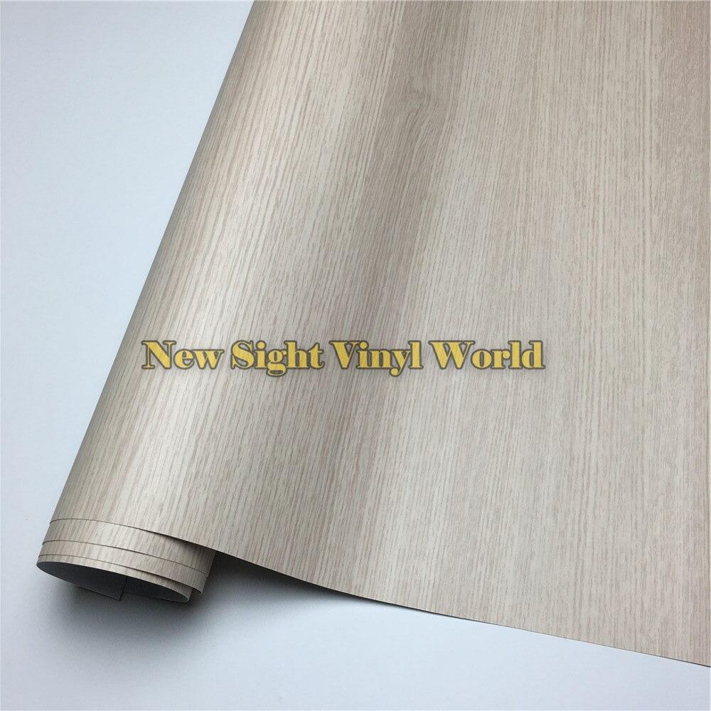 Chêne bricolage voiture autocollant bois Grain vinyle Film plancher meubles voiture Interier taille: 1.24X50 m/rouleau (4ft X 165ft)