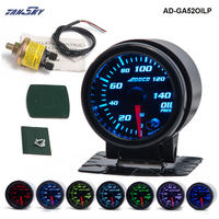 TANSKY 2 52mm 7 Color LED Car Oil Press Gauge Auto Oil Pressure Meter With Sensor