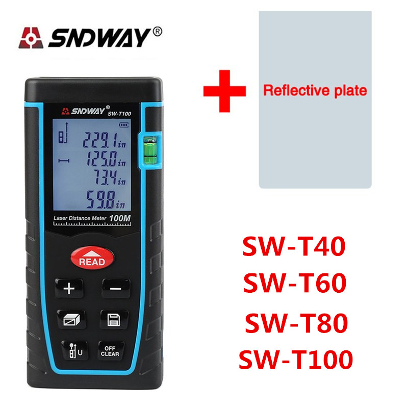 SNDWAY Laser Distance Meter 40M 60M 80M 100M Laser Rangefinder Range Finder Digital Tape infrared ruler Measure Area/volume Tool mileseey d5t digital golf laser rangefinder scope distance laser distance meter 20m 40m 60m range finder measure mini bluetooth