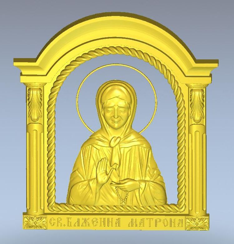 3D stl model for CNC machine Icona_sv_Matrona martyrs faith hope and love and their mother sophia 3d model relief figure stl format religion for cnc in stl file format
