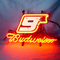 Neon Sign Budweiser CAPTAIN 9 Racing Car ST LOUIS CARDINALS City ROYALS PATRIOT Rolling Stones BILLS