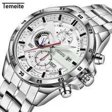 Luxury Brand Waterproof and shockproof stainless steel Military Sport Watches Men Silver Steel Digital Quartz Analog Watch все цены
