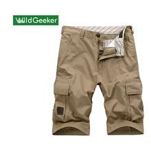 Wildgeeker Мужские Шорты 100% Хлопок Нескольких карман Случайные 5 Цвет Шорты До Колен Пиджаки Эластичные Шорты Мужчин Короткий Размер 30-44
