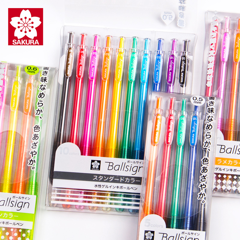 Japan SAKURA Press Color Gel Pen 0.5mm Candy colored Highlight Pen  Kawaii School Supplies|Gel Pens| |  - title=