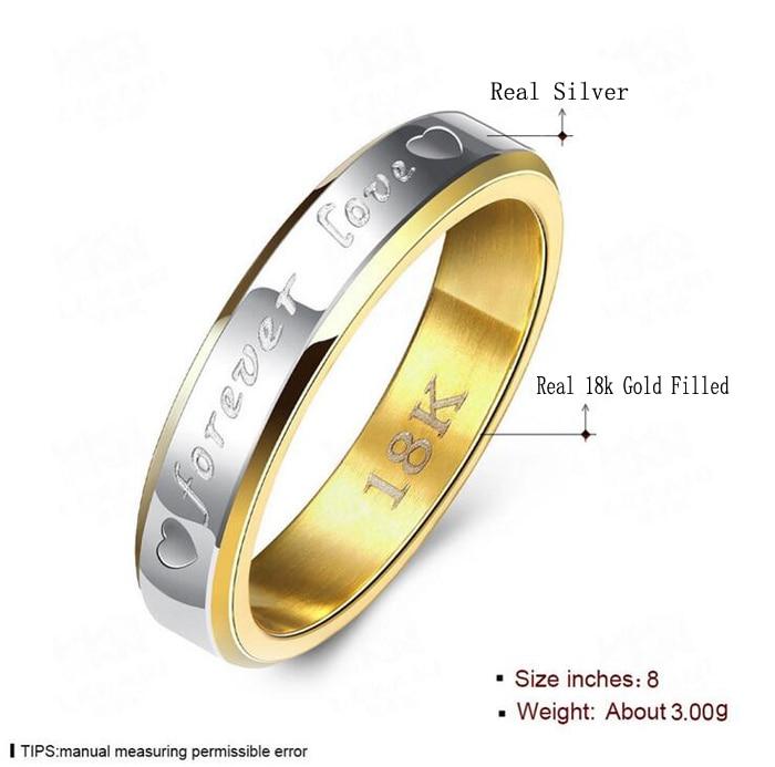 STORT 90% RABATT! Classic Forever Love Solid Gold Ring Engagement - Märkessmycken - Foto 2