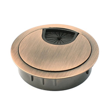 AYHF-Computer Desk Metal Grommets Wire Cable Hole Round Cover Red-bronze