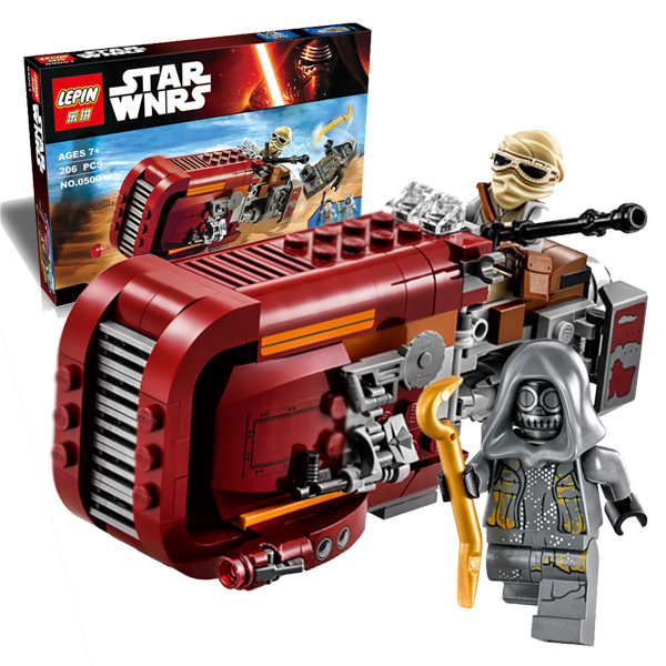 05001 Rey and Speeder Space Ship Star Wars The Force Awakens Mini Figure Building Blocks Sets Minifigures Brick Kid Baby Toy