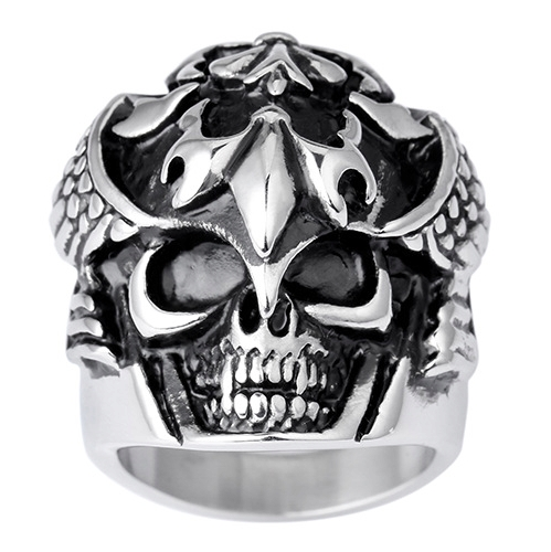 Cool Skeleton Skull Ring Men Ring