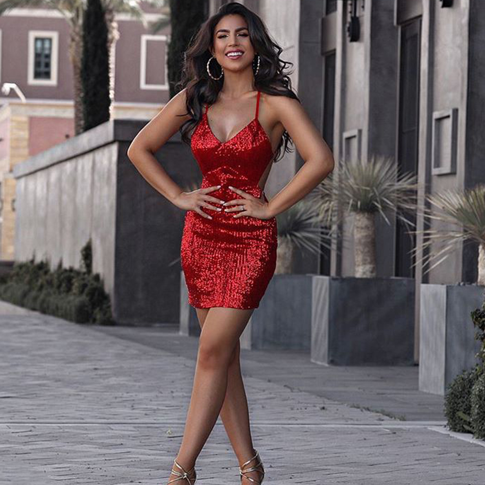 aliexpress  buy seamyla new sexy red sequined dress
