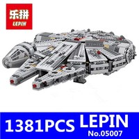 LEPIN Star Wars 1381pcs Millennium Falcon Toys Building Blocks Marvel Kids Toy Compatible Children Toy Gifts