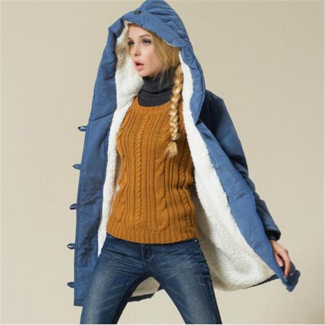 Plus Size Mulheres Casacos de Inverno de Algodão Acolchoado Feminino Versão Longa Seção Casaco de Caxemira Casacos de Inverno XXL XXXL XXXXL Parka
