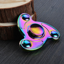 DHL 100pcs New Colorful Fidget Spinner toy Hand Spinner EDC Tri-Spinner Fingertips Gyro Toy Kids/Adult Anti Stress Toy