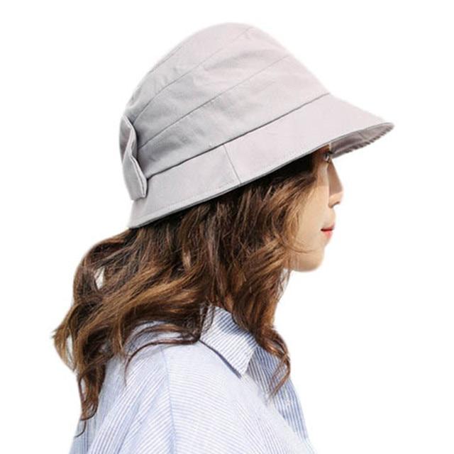 Primavera Verano algodón sombrero del cubo hembra Sombreros de Panamá sombreros  pescador playa para las mujeres add73429092
