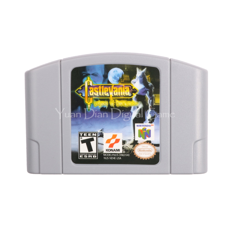 Nintendo N64 Video Game Cartridge Console Card Castlevania Legacy of Darkness English Language Version