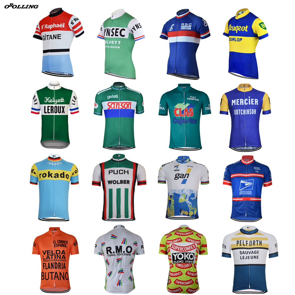 CLASSICAL Retro Real Photos New Road Mountain Race Team Cycling Jersey Customized Top OROLLING