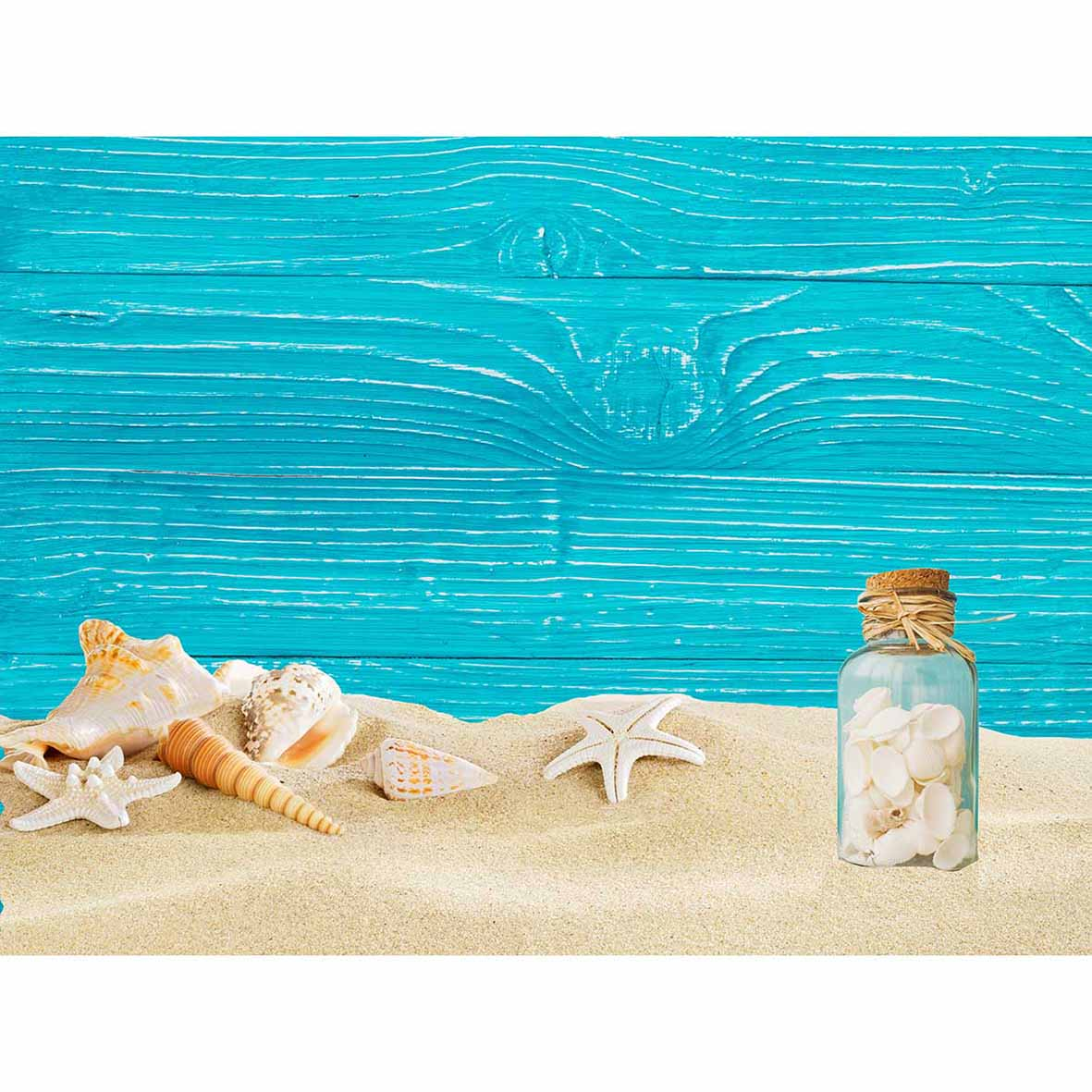 allenjoy blue wood sand beach theme background conch backgrounds for