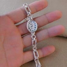 23,7 г Настоящее чистое серебро, браслеты для женщин, хорошее ювелирное изделие, винтажные S925 Твердые тайские серебряные цепочки, наручные часы, браслет
