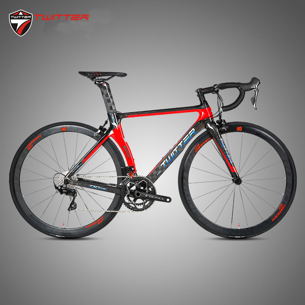 Twitter T10pro Complete Carbon Road Bike 105/R7000 22 Speed With 700C Wheel Caliper Brake Full Carbon Road Bicycle For Racing